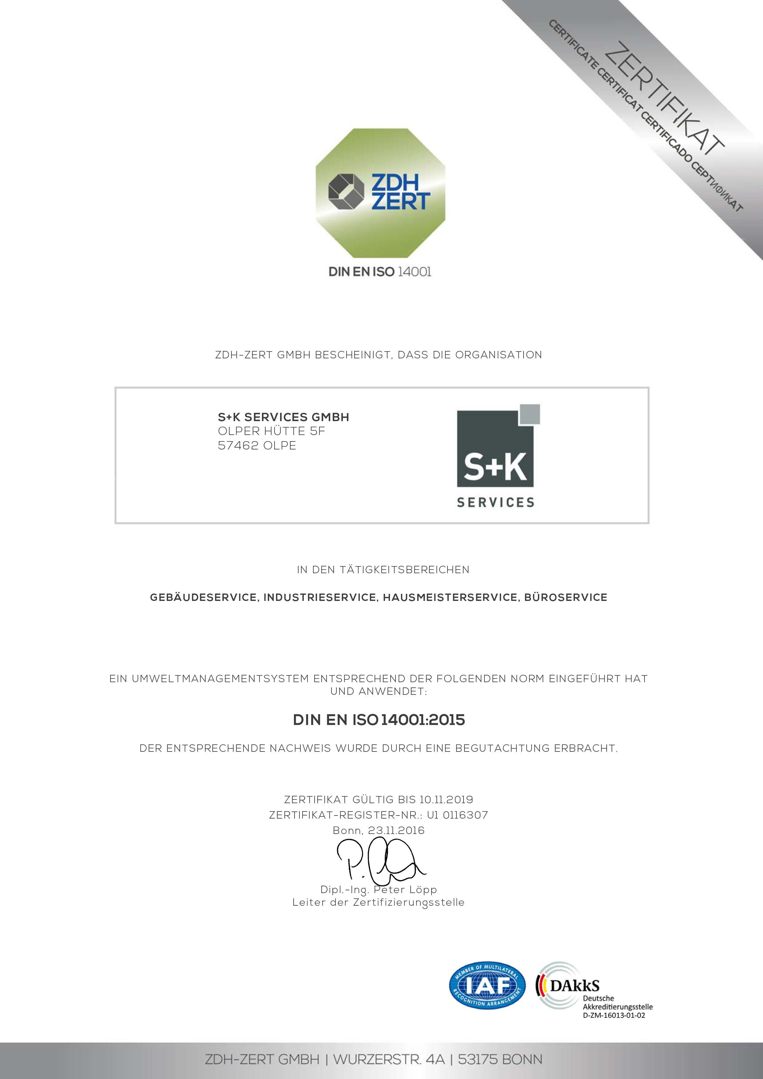Nachhaltigkeit - S+K Services GmbH